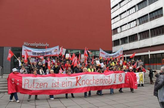 Gebäudereiniger Streik